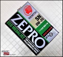 Idemitsu Zepro. 0w20, синтетическое, 4,00л.