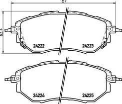 Колодки тормозные дисковые, передние, CHEVROLET/DAEWOO CAPTIVA , CAPTIVA SPORT, EQUINOX, WINSTORM NP7008 nisshinbo NP7008 в наличии