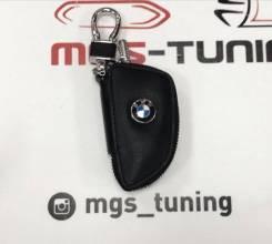 Чехол для ключа черный на молнии стиль 2 BMW