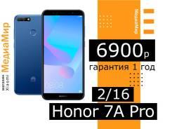 Honor 7A. Новый, 16 Гб, Синий, 3G, 4G LTE, Dual-SIM, Защищенный