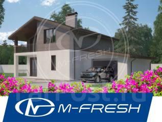 M-fresh BlackBerry Auto! (Готовый проект симпатичного дома с гаражом! ). 100-200 кв. м., 2 этажа, 4 комнаты, бетон
