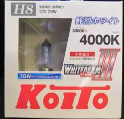 Лампы галогенные Koito Whitebeam P0758W. H8. Комплект 2 шт. В наличии!