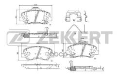 Колодки Торм. Диск. Пер. Hyundai Solaris Ii 17- Kia Rio Iv 17- Zekkert арт. bs-1187