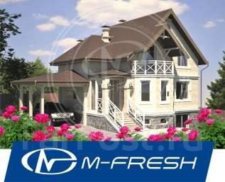 M-fresh Dubrava-зеркальный (Вот! Проект несравненного дома с цоколем! ). 200-300 кв. м., 2 этажа, 5 комнат, бетон