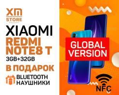 Xiaomi Redmi Note 8T. Новый, 32 Гб, Синий, 3G, 4G LTE, Dual-SIM, NFC