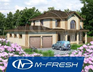 M-fresh Viking (Проект коттеджа с большим гаражом на три машины! ). 300-400 кв. м., 2 этажа, 5 комнат, бетон