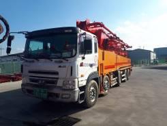 KCP. Бетононасос 55 zx200 высотой подачи 55 м на базе Hyundai Trago 2010, 55,00м. Под заказ