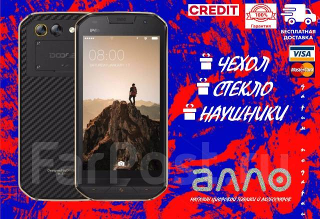 Doogee S30. Новый, 16 Гб, Черный, 3G, 4G LTE, Dual-SIM, Защищенный