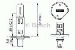 Лампа H1 XENON BLUE Bosch 1987302015