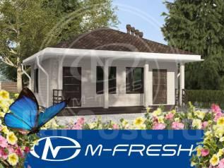 M-fresh Sauna (Готовый проект малогабаритной бани с моечной). до 100 кв. м., 1 этаж, 1 комната, бетон