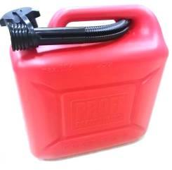 Канистра 3ton Красная пластмасовая 10л под топливо с крышкой и лейкой TN55298/01