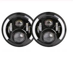 Фары 7 дюймов H4 ближний дальний свет 100W 2 шт Ваз, Нива, Уаз, Jeep