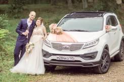 Свадебный комплекс: Проф. фото + видео, машина с украшением и букетик.