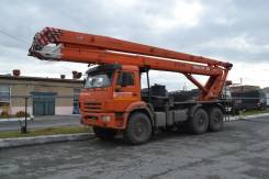 Пинский завод СММ ПМС-328-04. Автогидроподъемник ПМС-328-04 Камаз 43118(6х6), 28,00м.