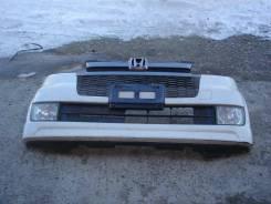 Бампер Honda Zest JE1 белый с туманками