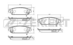 Колодки торм. диск. зад Cadillac Escalade III 06- Chevrolet Tahoe (GMT900) 07- ZEKKERT BS3016