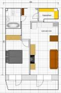 2-комнатная, улица Сабанеева 14в. Баляева, частное лицо, 45,8кв.м. План квартиры