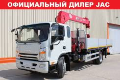 JAC N120. Бортовой с КМУ UNIC 3 тонны. Лизинг, Кредит. Гарантия 3 года, 3 800куб. см., 7 690кг., 4x2