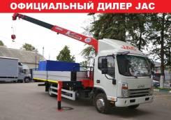 JAC N80. Бортовой с КМУ UNIC 3 тонны. Лизинг, Гарантия 3 года, 3 800куб. см., 5 130кг., 4x2