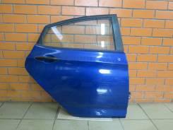 Дверь задняя правая Hyundai Solaris (отличное состояние) [синяя WGM]