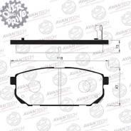 Колодки тормозные дисковые Avantech (противоскрипная пластина в компл. ) Avantech AV032