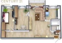 3-комнатная, улица Строительная 3-я 9. Борисенко, проверенное агентство, 56,0кв.м. План квартиры