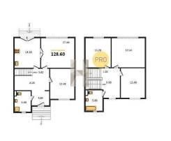 6 комнат и более. застройщик, 128,6кв.м.