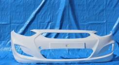Бампер Hyundai Solaris 2010 - 2014 г. в. белый PGU в цвет кузова.
