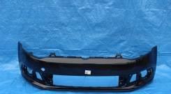 Бампер Volkswagen Polo 10 - 15 г. Черный перламутр С9Х в цвет кузова