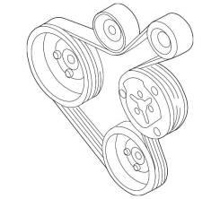 Ремень привода навесного оборудования 5PK1210 90916-02203