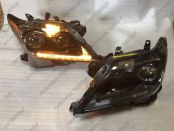 Фары Lexus LX570, LX 570 2012-2015 черные Динамический поворот