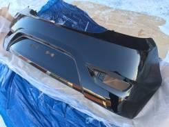 Новый задний бампер (Черный / MZH ) Hyundai Solaris Хэтчбек 11-14г