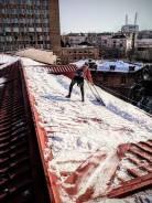 Уборка снега с крыш, установка снегозадержателей