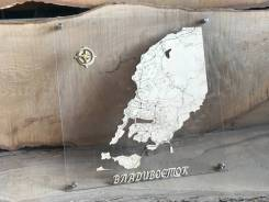 Карта Владивостока 50х50. Корпоративный подарок, сувенир. Под заказ