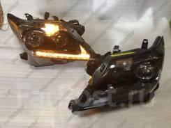 Фары Lexus LX570, LX 570 2012-2015 черные Динамический поворот SUV