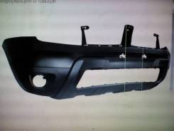 Бампер Renault Duster 10- серебристый до ристайлинг