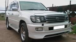 Фары черные для Toyota Land Cruiser 100-105 (04-07г)