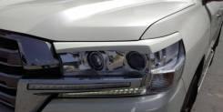 Накладка на фару. Toyota Land Cruiser, GRJ200, URJ200, URJ202, URJ202W, UZJ200, UZJ200W, VDJ200 1GRFE, 1URFE, 1VDFTV, 3URFE