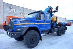Урал 4320. Седельный тягач с КМУ, 6 650куб. см., 12 500кг., 6x6