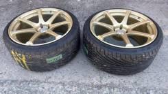 """Пара колес avs model t7. 10.0x19"""" 5x114.30 ET32 ЦО 73,0мм."""