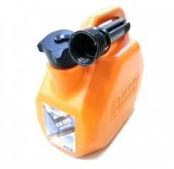 Канистра 3TON Оранжевая пластмасовая (усиленная) 5л под топливо с крышкой и лейкой
