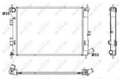 Радиаторы системы охлаждения двигателей внутреннего сгорания NRF [53171]
