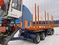 Бзап. 4-х осный прицеп сортиментовоз БЗАП 94563N-V 45 м.3 гп 40 000 кг, 40 000кг. Под заказ