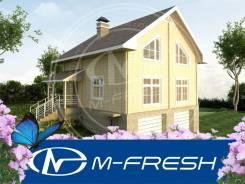 M-fresh Summer Residence (Готовый проект дома из дерева с цоколем! ). 200-300 кв. м., 3 этажа, 4 комнаты, дерево