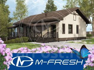 M-fresh Merlen Karkas-зеркальный (Проект дома с двумя спальнями! ). 100-200 кв. м., 1 этаж, 3 комнаты, каркас