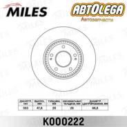 Диск тормозной п. Miles Hyundai Creta 4WD/iX35/Sonata (NF)/KIA Sportage K000222