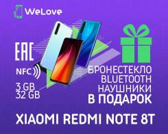 Xiaomi Redmi Note 8T. Новый, 32 Гб, 3G, 4G LTE, Dual-SIM, NFC