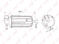 Фильтр топливный AUDI A4 1.8TFSI/2.0TFSI 07- [LF1079M]