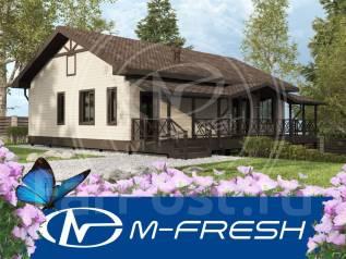M-fresh Merlen Karkas (Готовый проект каркасного дома с террасой! Во! ). 100-200 кв. м., 1 этаж, 3 комнаты, каркас