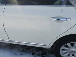 Дверь боковая задняя левая Nissan Teana J32 2011 белая [QX1]